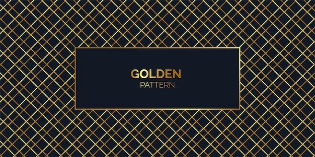 交差した金色の線パターンの背景