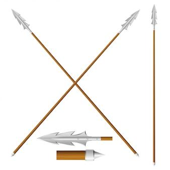 Crossed lances