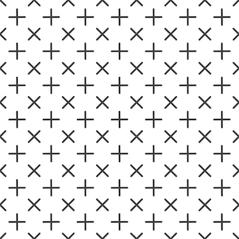 Crosses pattern in 80s, 90s retro style. abstract geometric background