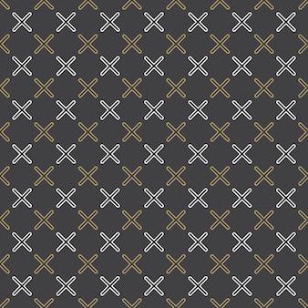 80年代、90年代のレトロなスタイルのクロスパターン。抽象的な幾何学的な背景