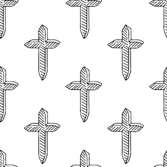 Crosses seamless pattern