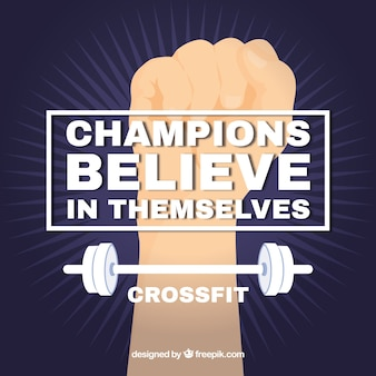 Crossfit background with quote