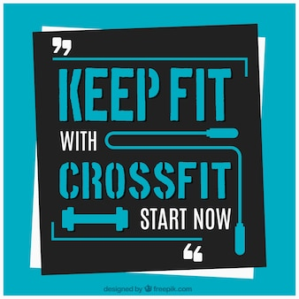 Crossfit background with start quote