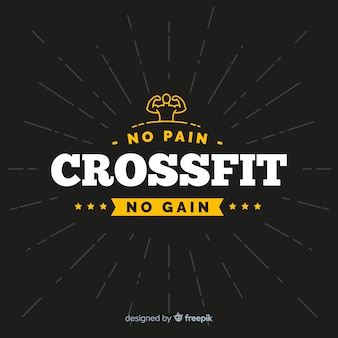 Crossfit emblem with motivational phrase