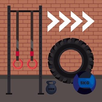 Crossfit equipment scene