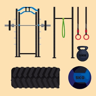 Crossfit equipment set