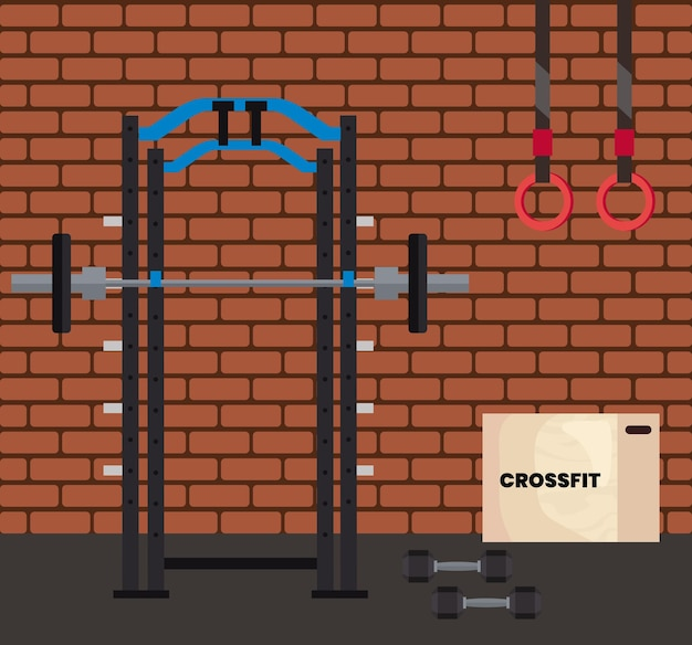 Crossfit gym scene