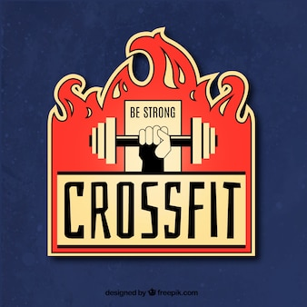 Crossfit label background