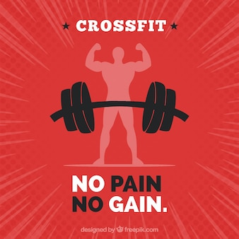 Crossfit quote with red background