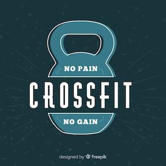 Эмблема crossfit с мотивационной фразой