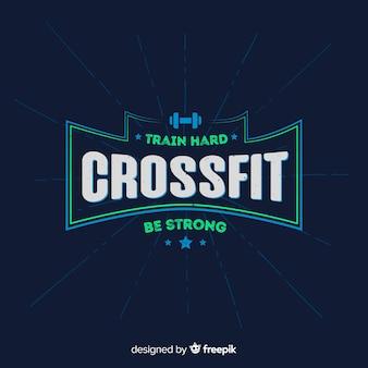 Crossfitやる気を起こさせるエンブレムフラットスタイル
