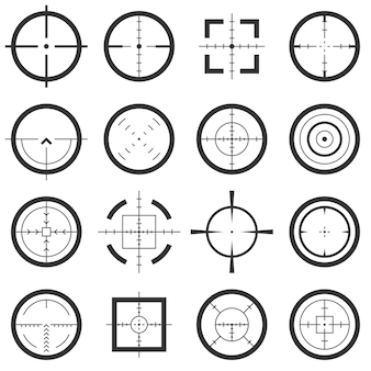 Crosshairs vector icons