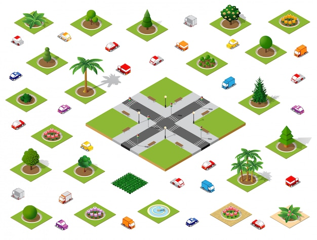 Crossroads set city street