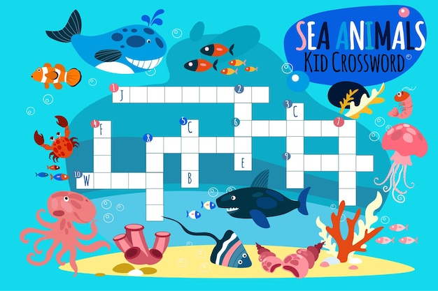 Crossword in english for kids
