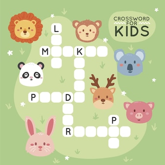 Crossword in english template