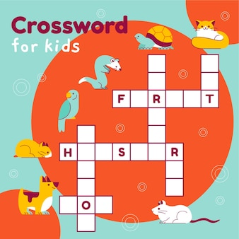Crossword in english with animals