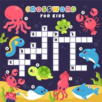 子供のための英語のクロスワード
