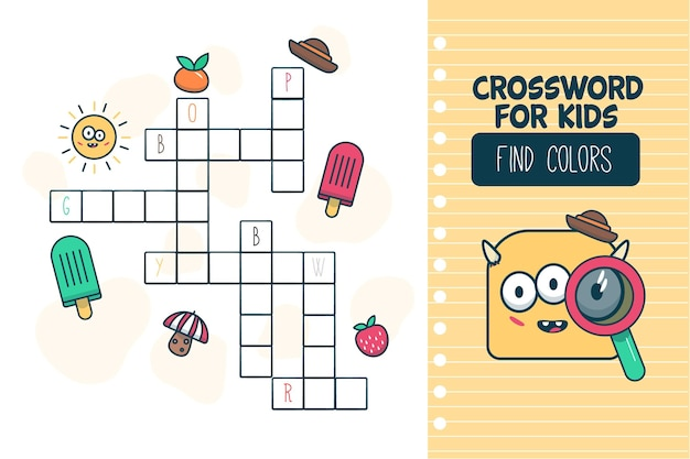 Crossword for kids in english