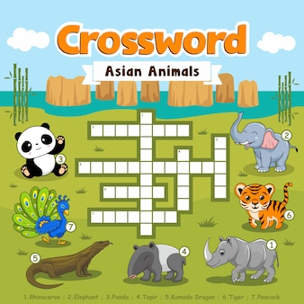 Crossword puzzle asian animals games