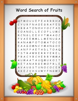 Crossword puzzles word find fruit for kids games