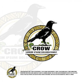 Crow logo template
