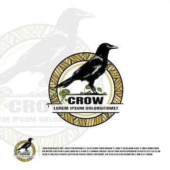 Шаблон логотипа crow