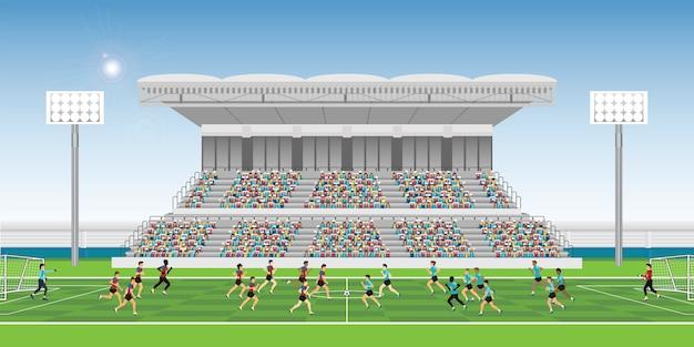 경기장에서 군중