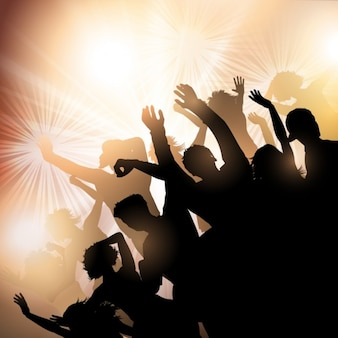 Crowd silhouette background