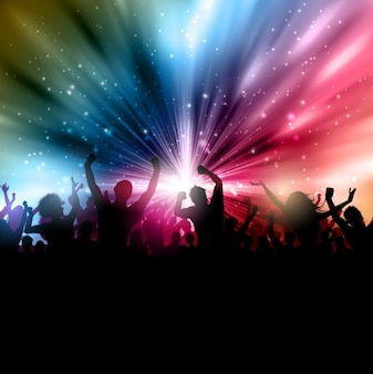 Crowded party background
