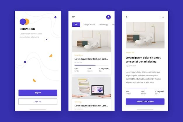 Modello di raccolta di app di crowdfunding
