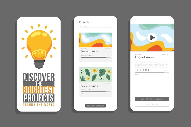 Crowdfunding app concept