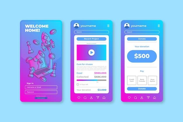 クラウドファンディングアプリ