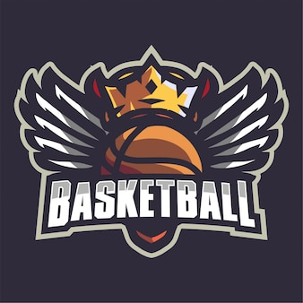 Crown basketball team logo