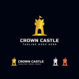 Шаблон логотипа crown castle