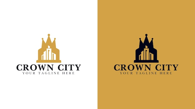 Crown city real estate company logo design
