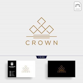 Crown elegant line logo