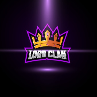 Crown esport logo template