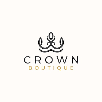 Crown floral logo template logo template.