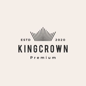 Crown hipster vintage logo  icon illustration