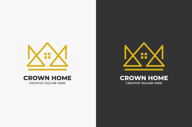 Crown house architecture monoline logo