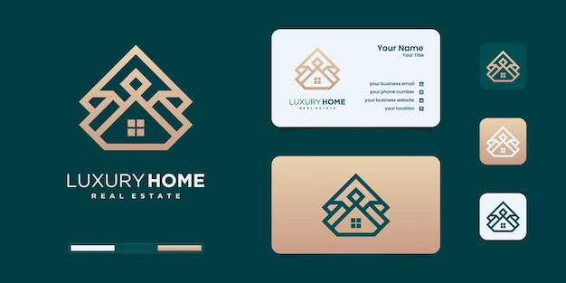 Crown house logo design inspiration. Premium Vector