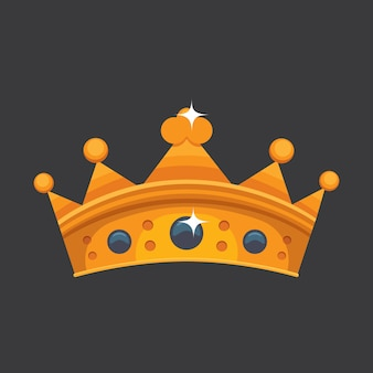 Crown icon award for winners, champions, leadership. royal king, queen, princess crown.