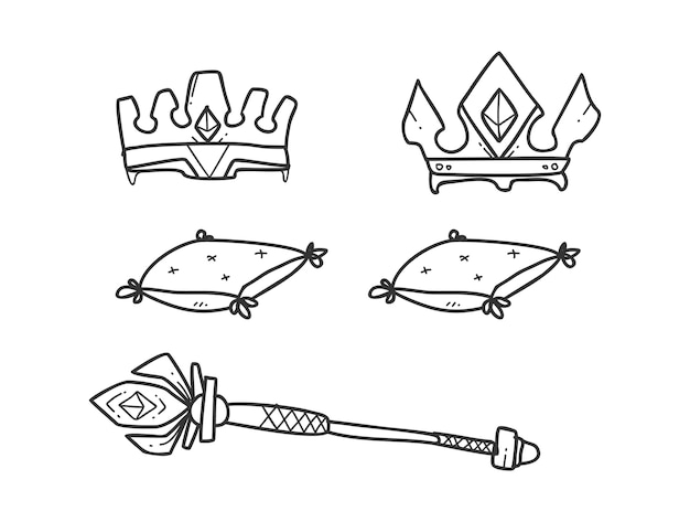 Crown icon hand drawing