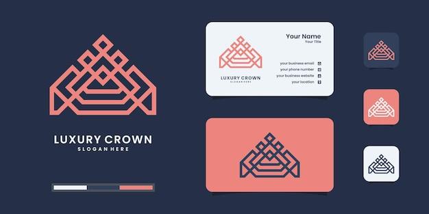 Шаблон дизайна логотипа значка короны.