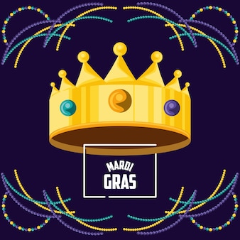 Crown king of mardi gras celebration