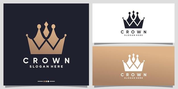 Crown logo design inspiration with unique concept premium vector