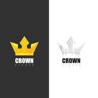 Crown logo design vector