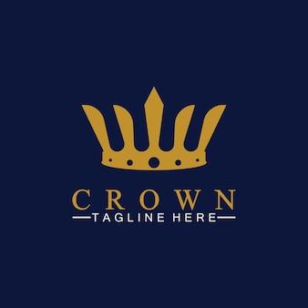 王冠のロゴのテンプレートのベクトル図