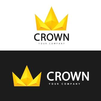 王冠のロゴのテンプレート