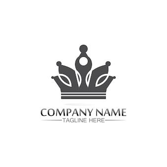 Crown logo template Premium Vector